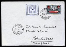 A3107) Schweiz Brief Mit Mi.325 Sonderflug 22.5.1938 - Luftpost