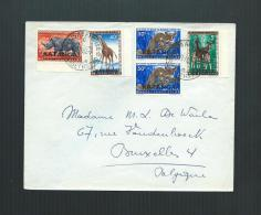 KATANGA 1960 ENVELOPPE D'ELISABETHVILLE à BRUXELLES - Katanga