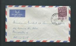 KATANGA 1961 COB 62 ENVELOPPE DE KOLWEZI à BRUXELLES - Katanga