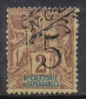 NOUVELLE-CALEDONIE N°54 N*  Variété Surcharge Déplacée - Neukaledonien