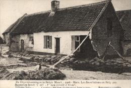 BELGIQUE - FLANDRE ORIENTALE - HAMME - KASTEL - De Overstroomingen In Belgie Maart 1906 - Ingevallen Huis Te Castel - Hamme