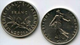 France 1 Franc 2001 GAD 474 KM 925.1 - France