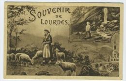 CP  LOURDES 65 PYRENEES SOUVENIR CATRE HOTEL CROIX DE MALTE ESCOT BOURDETTE - Lourdes