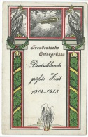 CPA / ZEPPELIN / DIRIGEABLE / FREUDEUTSCHE OSTERGRUSSE / DEUTSCHLANDS GROFSTE HEIT 1914 1915 - Airships
