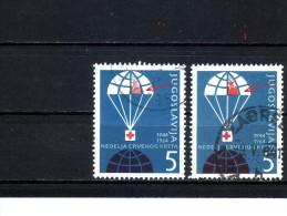 RED CROSS-5 DIN-VARIETY-YUGOSLAVIA-1964 - Wohlfahrtsmarken