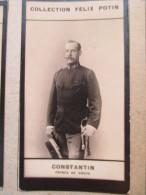 Photo Bromure 1900 - Constantin  Prince De Grece - Collection Felix Potin - Old (before 1900)