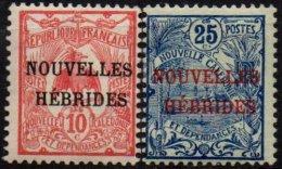 NOUVELLES-HEBRIDES - 2 Valeurs De 1908 Neuves - Neufs