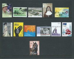 Australia 2011 - 2103 12 Different 55c & 60c Single Issue Commemmoratives MNH - Mint Stamps