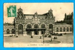 OV1.1212, La Gare, No33 Animée Circulée 1914 - Cambrai