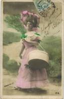 """FANTAISIE FEMMES FRAU LADY Illustrateur Stebbing : """" Portrait De Femme Avec Boîte à Chapeaux - Femmes"""