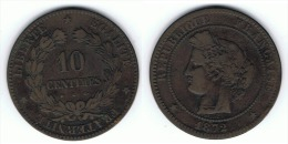 FRANCIA 10 CENTIMES K 1872 - Francia