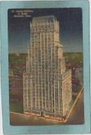STERICK  BUILDING  AT  NIGHT  -  MEMPHIS  -  1952  - - Memphis