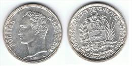 VENEZUELA 2  BOLIVAR 1960 PLATA SILVER SC - Venezuela