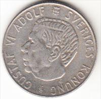 SUECIA 1954  1 KRONOR .GUSTAVO VI ADOLFO .MBC  VER FOTO PLATA CN4307 - Suecia