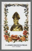 Xsa-12314 S. San LEONZIO VESCOVO DI FREJUS NIMES LERINS Santino Holy Card - Religione & Esoterismo