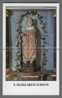 Xsa-12320 S. San GILDAS ABATE DI RHUYS GALLES HOUAT CHATEAUROUX Santino Holy Card - Religión & Esoterismo