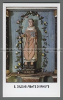 Xsa-12320 S. San GILDAS ABATE DI RHUYS GALLES HOUAT CHATEAUROUX Santino Holy Card - Religion & Esotérisme