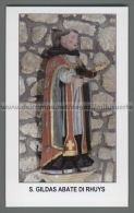 Xsa-12322 S. San GILDAS ABATE DI RHUYS GALLES HOUAT CHATEAUROUX Santino Holy Card - Religion & Esotérisme