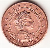 GRAN BRETAÑA 2002 1 EURO. ISABEL 2ª  PRUEBA DEL EURO EN COBRE   .EBC  VER FOTO CN4307 - EURO