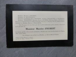 87 Le Dorat, Neully-s-S, Décès Maurice D'HUBERT Imprimerie Stern, 1925, ; Ref953 - Tarjetas De Visita