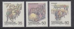 Liechtenstein 1989 Folklore 3v ** Mnh (21461) - Liechtenstein