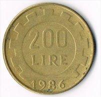 Italy 1986 200 Lire - 200 Lire