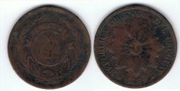 URUGUAY 4 CENTAVOS 1869 - Uruguay