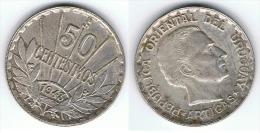 URUGUAY 50 CENTAVOS ARTIGAS 1943 PLATA SILVER A - Uruguay