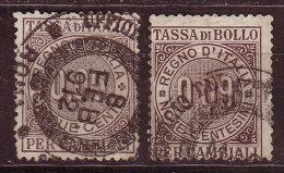 ITALIE - Fiscal   - 2 X TASSA DI BOLLO - Droit De Timbre - Steuermarken