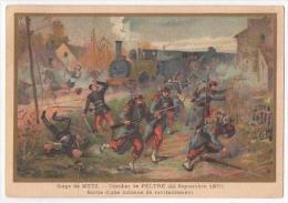 (Chromos) G, Germain 19, Militaria, Combat De Feltre (1870) 2 Pliures - Sin Clasificación