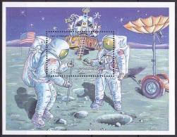 Bloc Feuillet Neuf ** N° 20(Yvert) Djibouti 2000 - Espace, Astronautes Sur La Lune - Djibouti (1977-...)