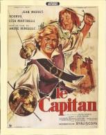 Affiche 21 / 27 Cm  : Le Capitan - Jean Marais - Bourvil - Affiches