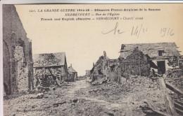 80 - Herbécourt - Rue De L'Eglise - Offensive Franco-Anglaise De La Somme - Excellent état - Scans Recto-verso - France
