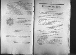 Bulletin Des Lois Du 11 Novembre 1839 - 176 Ans D´âge ! - Avancement Dans Le Commissariat De La Marine, Aux Colonies - S - Decrees & Laws