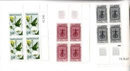 Timbre Maroc - Coin De Feuille, 3 Blocs De 4 Timbres Neufs  -Droits De L'Homme - YT N° 532/533 ? - Morocco (1956-...)
