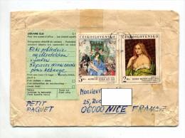 Lettre  Cachet Sur Tableau + Vignette Douane C1 - Brieven En Documenten