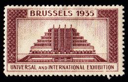 BELGIUM - YW0281 Brussels 1935 Universal And International - 1935 – Brussel (België)