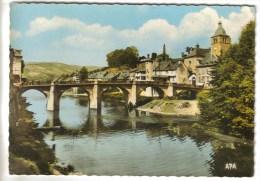CPSM SAINT GENIEZ D'OLT (Aveyron) - Le Pont - France
