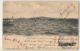 URUGUAY - MONTEVIDEO - La Bahia Con El Cerro - 1904 Enviada A Paysandu - Editor Adroher Hnos - Uruguay