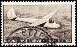 BELGIUM - Scott # C13 Glider (*) / Used Stamp - Airmail