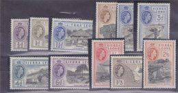 SIERRA LEONE 1956 DEFINITIVE TO 2/6  MINT - Sierra Leone (...-1960)