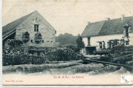CPA 95 US LA SCIERIE 1909