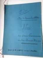 Acte Notarié Du 11 Novembre 1880 De Vente D´un Morceau De Bois Taillis Et Autres Etude Me LAMENA à PAUILLAC - Manuscripts