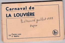 LA LOUVIERE-CARNAVAL-GILLES-CARNET-COMPLET-10 CARTES-ETAT IMPEQ-VOYEZ LES 5 SCANS-TOP ! ! ! - La Louvière