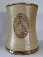 """CHOPE EN GRES - Poterie DUBOIS Bouffioulx - """" LA ROSE """" Luttre / Pont-à-Celles - 25ième Anniversaire    (3958) - Autres Collections"""