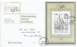 EXP-L32 - GRANDE-BRETAGNE FDC International Stamp Exhibition London 1980 - FDC