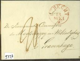 VOORLOPER * BRIEFOMSLAG Uit 1835 Van ZEIST Via  UTRECHT Naar 's-GRAVENHAGE (9778) - Nederland