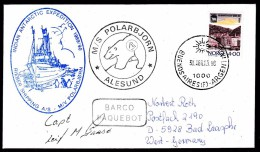 """ANTARCTIC, INDIA, 9.Expedition, With M/V """"POLARBJÖRN"""" + Signature Captain, 2 Cachets ,look Scan !! 2.5-06 - Antarctische Expedities"""