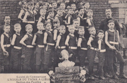 HERSTAL-SOCIETE DE GYMNASTIQUE-L´ETOILE DU THIER-PUPILLES-1913-TOP-BELLE CARTE ANIMEE-VOYEZ LES 2 SCANS ! ! ! - Herstal