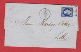 Lettre  //  De Calais  //  Pour  Lille  //  31 Mai   1856 // - 1849-1876: Periodo Classico